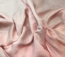 Silk/Cotton SATIN SATEEN Fabric Hand Dyed BABY PINK 1/3 Yard remnant
