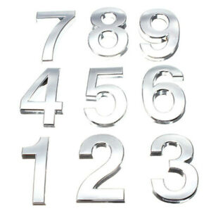 1PC 0-9 Number House Sign Car Hotel Door Numbers Plastic Plate Self-adhesivesign
