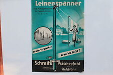 18783 Reklame Blatt Poster Plakat Schmitz Wäschepfahl 1936 Wickede Ruhr