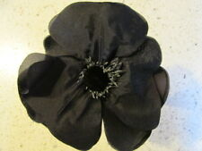 Millinery Flower Black Poppy 5� when Pliable petals are Fully opened G97