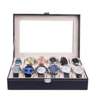 1 6 10 Slot Watch Display Box Storage Holder Organizer Case PU Leather KV