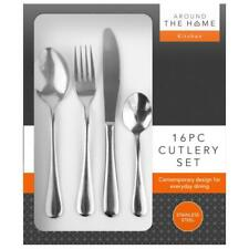 CONTEMPORARY DESIGN 16PC STAINLESS STEEL CUTLERY SET PREMIUM QUALITY