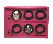 Scatola Del Tempo Watchwinder - Cornice 6RT OS Fuchsia Leather, MSRP $4,900