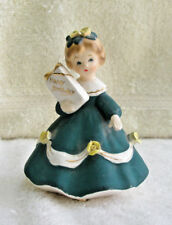 Vintage SHAFFORD Figurine Birthday Girl Holds Gift #2151