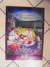 1996 WIMBLEDON TENNIS POSTER SIGNED BY WINNER R.KRAJICEK & FINALIST M.WASHINGTON