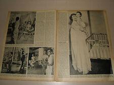 1953 ! ROMINA POWER LINDA CHRISTIAN TYRONE clipping photo fotografie