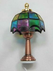 Heidi Ott Dollhouse Miniature 1:12 Scale Multicolored Table Lamp #YL1012