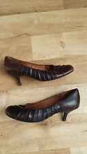 ALDO leather Kitten heel shoes, brown, UK Size5, EU38