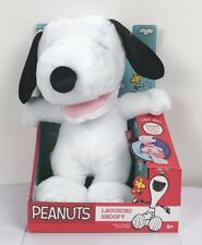 Peanuts Gang Laughing Snoopy Plush W/ Iconic Snoopy Laugh Brand New In Box