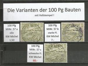 DS BERLINER BAUTEN MiNr. 57a 57b 57c mit Pracht Vollstempel