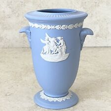 New listing Vintage Wedgwood Pale Blue Jasperware Pegasus Neo Classical 6� Vase