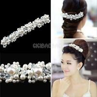 Crystal Rhinestone Pearl Wedding Bridal Prom Headband Tiara Headpiece Hair Clip