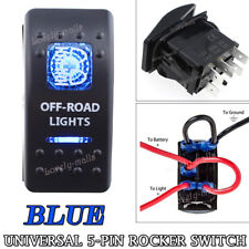 OFF-ROAD LIGHTS Blue Toggle Rocker Switch 5 PIN 20A 12V ON-OFF Boat Marine Car