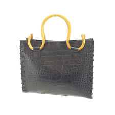 Samantha Thavasa Tote bag Black Beige Woman Authentic Used L779