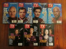 TV GUIDE, STAR TREK, 7 MAGAZINE LOT, FREE SHIPPING..........