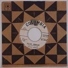 JOHNNY HORTON: I'm A One Woman Man ROCKABILLY DJ Orig 45 Columbia HEAR