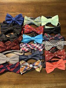 Lot Of 18 Bow Ties Adjustable Bowties