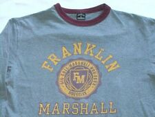 Franklin & Marshall T Camiseta Larga HIGH SCHOOL Universidad gris Retro Talla M