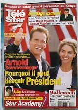 TELE STAR du 20/10/2003; Arnold Schwarzenegger/ Laurence Ferrari/ Ricci Raphaell