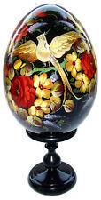 Oeuf en bois Oiseau du Paradis, Oeuf Collection Russe Oiseau du Paradis