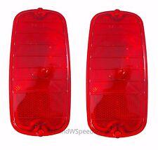 Pair 1960-1966 Chevrolet GMC Fleetside Pickup Truck Tail Light Lenses Guidex