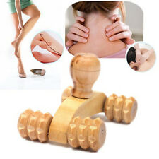 KQ_ Car Roller Wooden Massage Tool Reflexology Hand Foot Back Body Therapy Brief