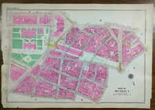 Vintage 1916 FINANCIAL DISTRICT NEW YORK CITY Map ~ ANN BEEKMAN BROADWAY PARK