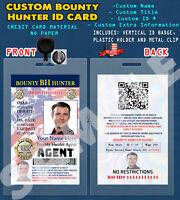 CUSTOM PVC ID Card w/ Clip  CUSTOM BOUNTY HUNTER ID
