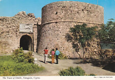 CYPRUS POSTCARD FAMAGUSTA THE TOWER OF OTHELLO NAGELE PRE 1974