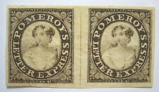 US 1844 SC Unlisted Scarce XF Line Pair Brown on Thin Bond Paper NGAI