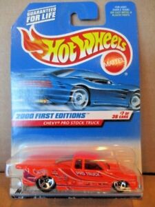 2000 HOT WHEELS FIRST EDITIONS *CHEVY PRO STOCK TRUCK* #7 OF 36 BY MATTEL NOC