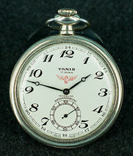 VINTAGE POCKET WATCH TANIS - RAILROAD WATCH - Cal.unitas 6497