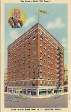 Linen postcard, the Sam Houston Hotel, Houston, Texas