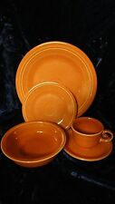 Homer Laughlin Fiesta Dinnerware 5pc Orange Setting