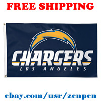 Deluxe Los Angeles Chargers Team Logo Flag Banner 3x5 ft NFL Football 2019 NEW
