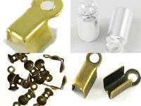 Rare Flair Jewellery Making Cord End Mix Bundle Set Barrel, Bend & Calotte Style