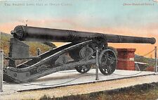 DOVER DEAL UK THE ANCIENT LONG GUN  AT DOVER CASTLE POSTCARD 1905 PM