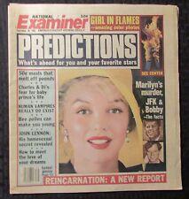 1982 Sept 28 NATIONAL EXAMINER Magazine FN 6.0  Marilyn Monroe