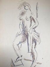 Dessin Original Encre NICOLAS WACKER (1897-1987) Peinture Russe Nus Feminin NW3