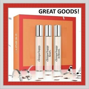 CLINIQUE Perfume A Little Happiness 3Pc Set: Happy, Happy in Bloom & Happy Heart