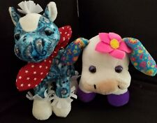 Webkinz PLUSH ONLY LOT OF 2  ROCKERZ  :  COW + HORSE - JUST THE PLUSH !!!!!