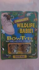 Endangered Wildlife Babies Bow Tyes Grizzly Bear Holder By Seneca 1996  NEW t105