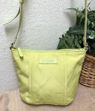 Vera Bradley Preppy Poly Nylon Crossbody Bag Handbag Green Neon VGC