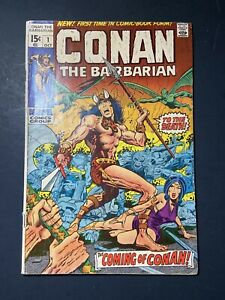 Marvel Comics Conan The Barbarian #1 First Issue 1970 Vintage Old Comic Book