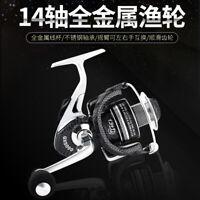 All Metal Saltwater Fishing Reel Spinning Reel 13+1BB Ratio 5.1:1 Max Drag 15lbs