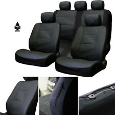 New Breathable Black PU Leather Car Truck Seat Covers Gift Set For BMW