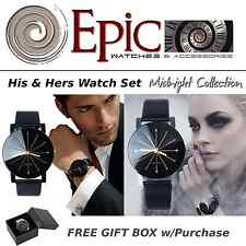 EPIC TIME- Hi and Hers Watch Set- Midnight Collection- Black Dress