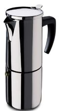 Fagor ETNA10T Italienischer Espressokocher Mokkakocher Edelstahl bis 10 Tassen