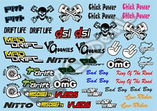 1/10 Drift Decals - Stickers Set 4 for Tamiya Hpi Kyosho losi