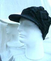 Unisex Visor Cable Knit Slouchy Baggy Beanie  Oversize Winter Hat Cap Skull Ski